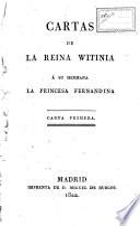 Cartas de la reina Witinia á su hermana la princesa Fernandina
