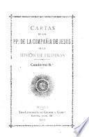 Cartas de los pp. de la Companía de Jesús de la misión de Filipinas