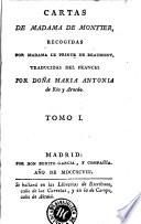 Cartas de Madama de Montier