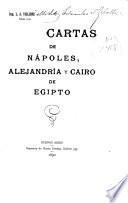 Cartas de Nápoles, Alejandría y Cairo de Egipto