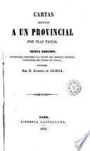 Cartas escritas a un provincial