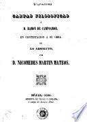 Cartas filosoficas á Ramon de Campoamor
