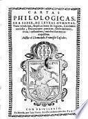 Cartas philologicas etc