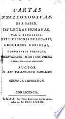 Cartas philologicas