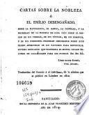 Cartas sobre la nobleza ó el Emilio desengañado