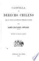 Cartilla de derecho chileno para el uso de las escuelas primarias de Chile
