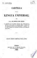 Cartilla de la lengua universal