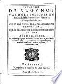 Catálogo de algunos varones insignes en santidad, de la provincia del Perú de la Compañía de Jesús