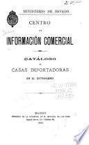 Catálogo de casas importadoras en el extranjero