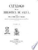 Catalogo de la Biblioteca de Salva escrito por Pedro Salva y Mallen