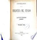 Catálogo de la biblioteca del Senado. Autores: Anónimos