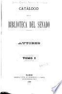 Catálogo de la biblioteca del Senado