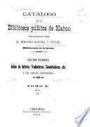 Catálogo de la Biblioteca Pública de Mahón: H-Z