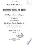 Catálogo de la Biblioteca Pública de Mahón