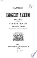 Catálogo de la Exposición Nacional de 1872