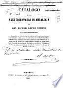 Catálogo de las aves observadas en Andalucía