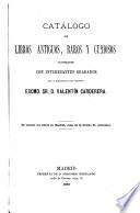 Catálogo de libros antiguos