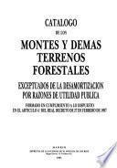 Catalogo de los montes y demas terrenos forestales