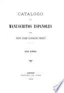 Catalogo de manuscritos españoles