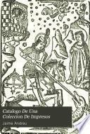 Catalogo De Una Coleccion De Impresos