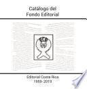 Catálogo del Fondo Editorial 1959-2019