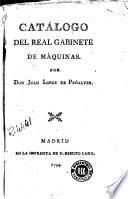 Catálogo del Real Gabinete de Máquinas