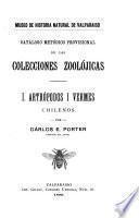 Catalogo metodico provisional de las colecciones zoolojicas