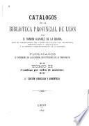 Catálogos de la Biblioteca Provincial de León: Catálogo por orden de materias