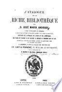 Catalogue de la riche bibliothèque