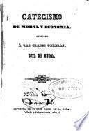 Catecismo de moral y economía