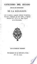 Catecismo del estado según los principios del la religión