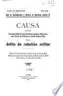 Causa contra Trinidad Alted Fornet, Emiliano Iglesias Ambrosio, Luis Zurdo de Olivares y Juana Ardiaca Mas