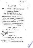 Causas de la division de animos y la suma escasez de dinero que hay en España