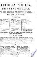 Cecilia viuda. Drama en tres actos ... [In verse.] Tercera edicion