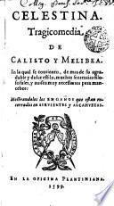 Celestina. Tragicomedia de Calisto y Melibea