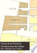 Censo de la Provincia Constitucional del Callao, 20 de junio de 1905