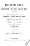 Censo escolar nacional correspondiente á fines de 1883 y principios de 1884