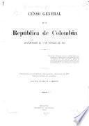 Censo general de la República de Colombia