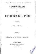 Censo general de la República del Perú, formado en 1876