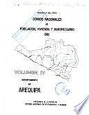 Censos nacionales de población, vivienda y agropecuario, 1961: Departamento de Arequipa