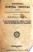 Centinela contra jesuitas y resumen de las causas de su engrandecimiento y corrupcion