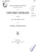 Certamen literario celebrado el 15 de abril de 1884