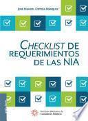 Checklist de requerimientos de las NIA