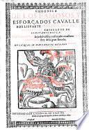 Chronica de los famosos cavalleros ... Lisuarte de Grecia, hijo de Esplandian ... y de Perion de Gaula etc