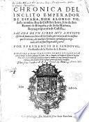 Chronica del inclito Emperador Don Alonso VII.