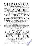 Chronica serafica de la Santa Provincia de Aragón