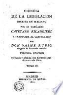 Ciencia de la Legislación, 3-4