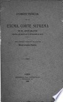 Cimpetencia de la excma. corte suprema en el juicio militar