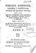 Cirugía forense, general y particular