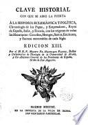 Clave Historial a la historia eclesiástica y política